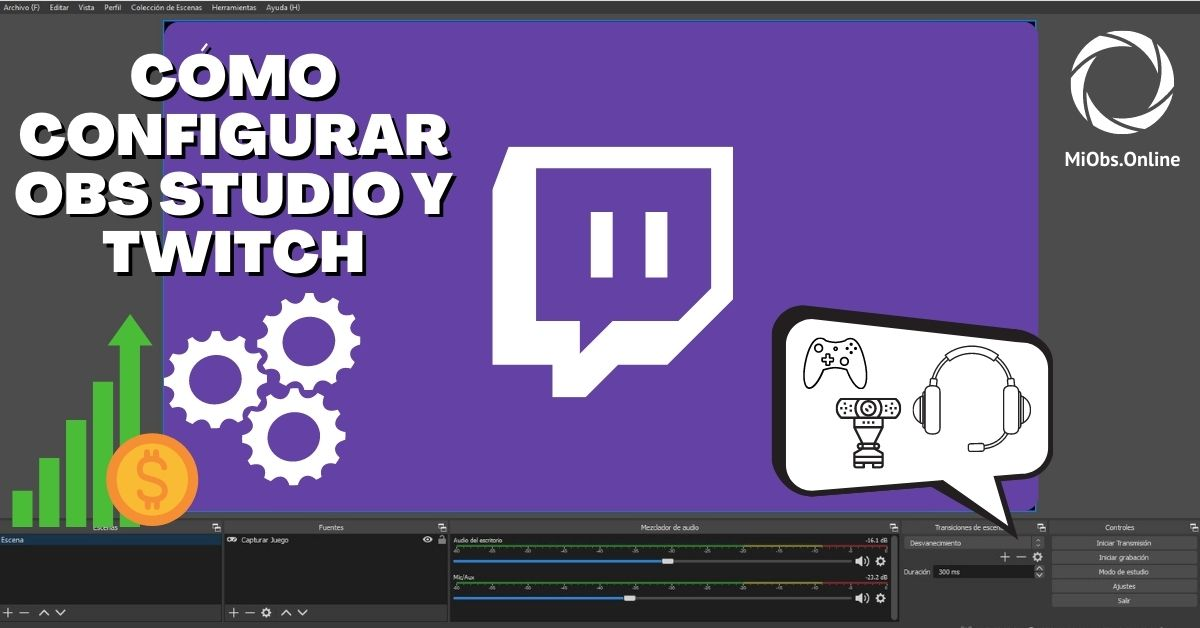 sincronizar obs studio y twitch