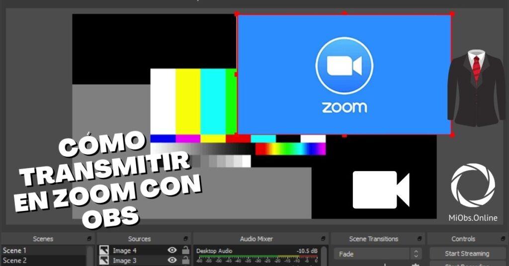 cómo hacer un streaming en directo con zoom usando OBS Studio