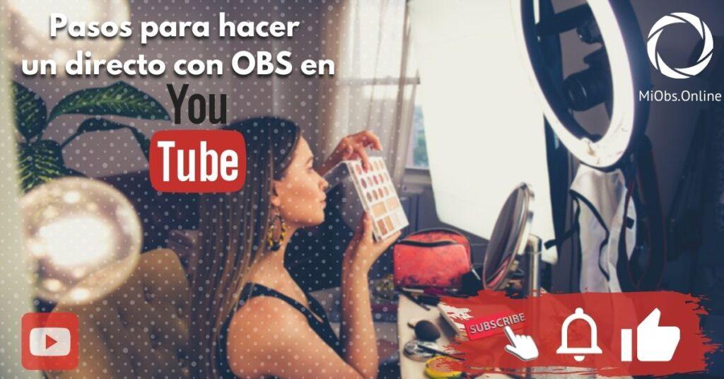 OBS Studio, hacer un directo en youtube