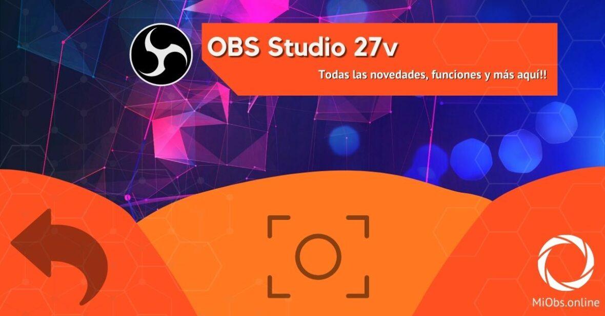 Nueva versión obs studio